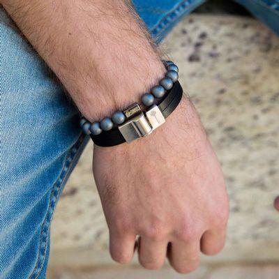pulseira-masculina-em-couro-huerta-silver-black