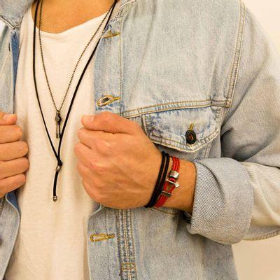 pulseira-masculina-em-couro-italiano-de-niro-red