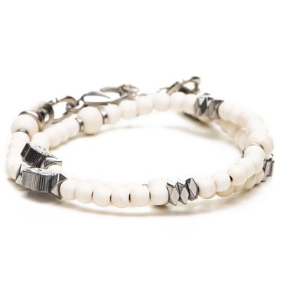 Pulseira-Double-B-Bege