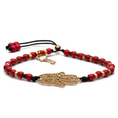 Hamsa-Gold-Red