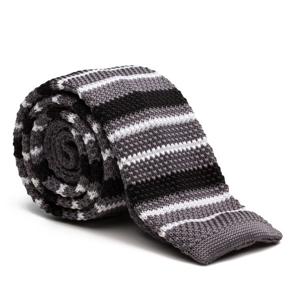 Gravata-Tricot-Stripe-Grey