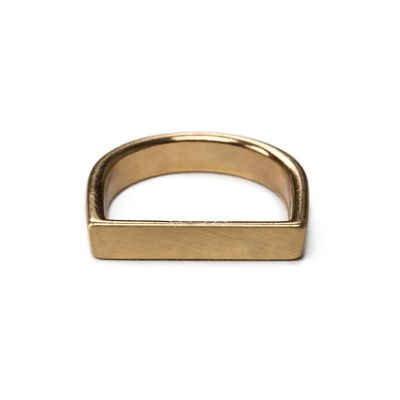 Ring-Flat-Slim-Brushed-Gold