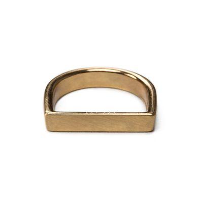Ring-Flat-Slim-Brushed-Gold