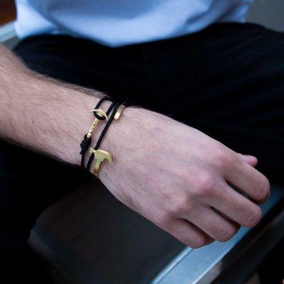 Pulseira-Masculina-em-Metal-Aco---Cuff-Hammer-Gold--Key-Design