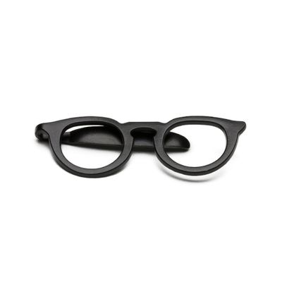 Prendedor-de-Gravata---Tie-Bar-Glasses-Black
