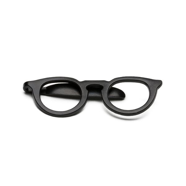 Prendedor-de-Gravata---Tie-Bar-Glasses-Black