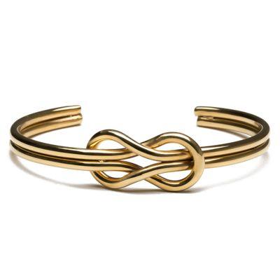 PULSEIRA-MASCULINA---CUFF-KNOT-DOUBLE-GOLD