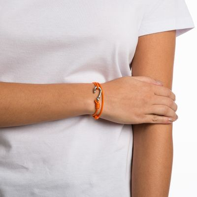 PULSEIRA-FEMININA---HOOK-SILVER-ORANGE-ROPE