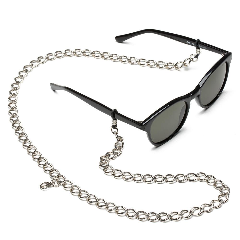 fcf12b60c2 Cordão Para Óculos em Corrente de Metal - Corbin Silver | Key Design ...