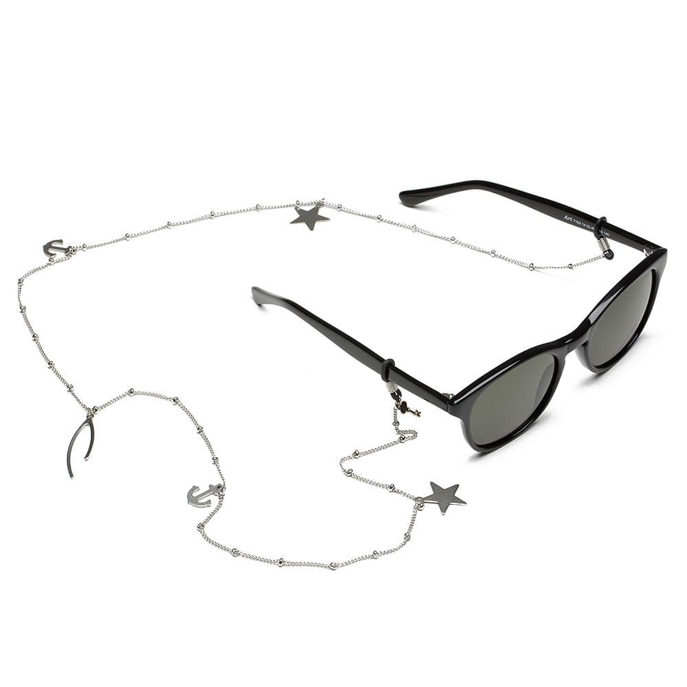Cordão Para Óculos em Corrente de Metal - Benson Silver   Key Design ... 5bae9eb998