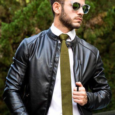 Gravata-Masculina---Gravata-Tricot-Green