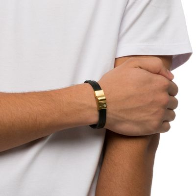 PULSEIRA-MASCULINA-HUERTA-GOLD-LEATHER-BLACK