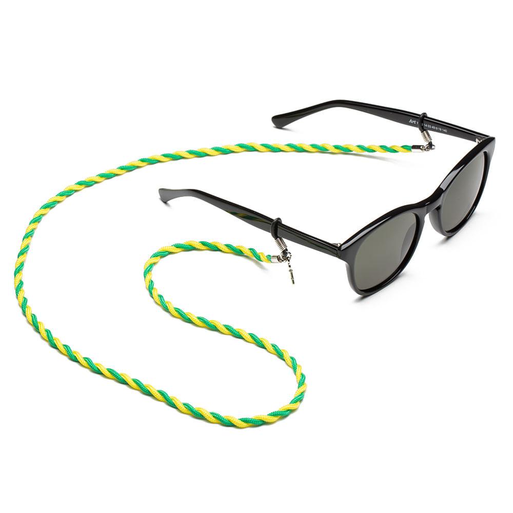 cbd09e5fd Cordão para Óculos em Paracord - Alegria (Verde e Amarelo) | Key ...