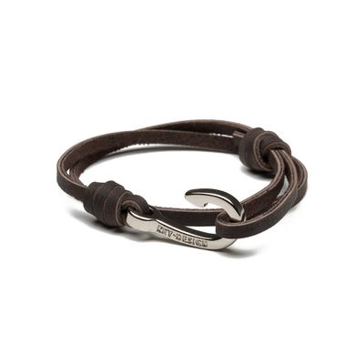 PULSEIRA-MASCULINA-HOOK-SILVER-BROWN-MINI