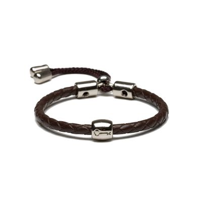 key-design-pulseira-masculina-infantil-fenning-silver-brown-mini