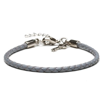 PULSEIRA-MASCULINA-FOSTER-SILVER-LEATHER-GREY