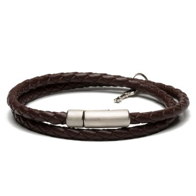 PULSEIRA-MASCULINA-JULIUS-SILVER-LEATHER-BROWN