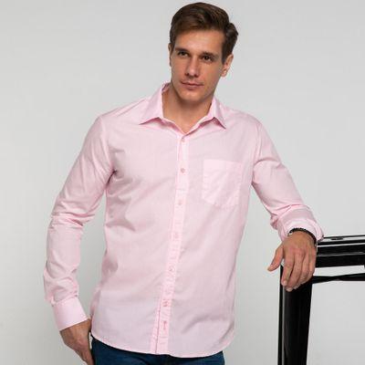 Camisa-algodao-com-bolso-rosa-frente