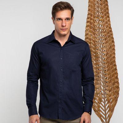 Camisa-algodao-azul-marinho-com-bolso-frente