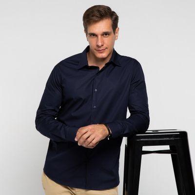 Camisa-algodao-azul-marinho-frente