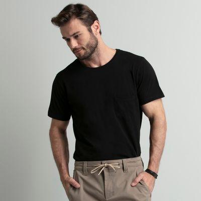 camiseta-masculina-preta-com-bolso-key-design2