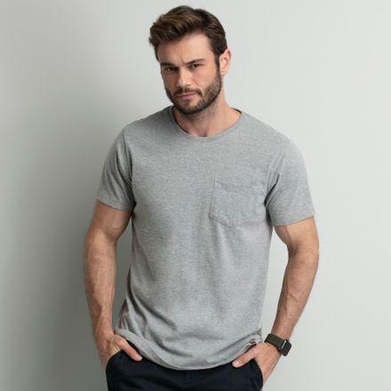 camiseta-gola-redonda-com-bolso-cinza-key-design