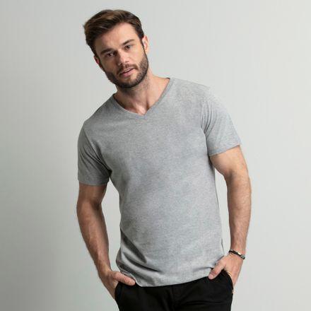 camiseta-cinza-gola-v-key-design