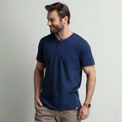 camiseta-masculina-henley-4-botoes-azul-key-design