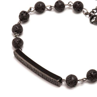 pulseira-masculina-em-pedra-preta